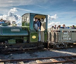 Award honours success of volunteers to return 1903-vintage locomotive to steam in Skegness Water Leisure Park