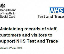 Maintaining Records of Staff, Customers & Visitors to Support NHS Test & Trace